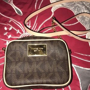 Michael Kors Jet Set MK Logo Crossbody (mini)